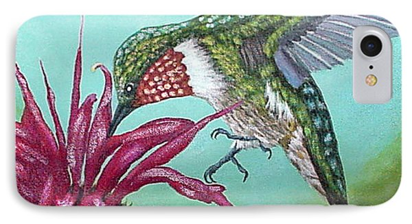 Ruby-throated Hummingbird IPhone Case by Fran Brooks