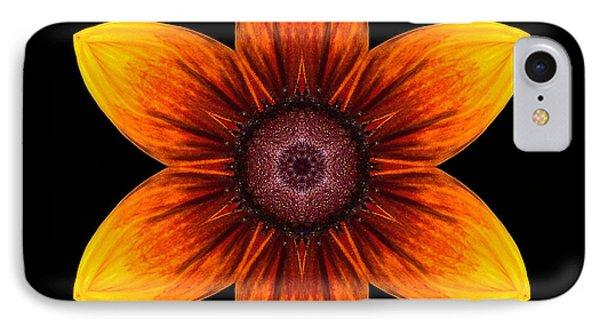 Rudbeckia I Flower Mandala Phone Case by David J Bookbinder