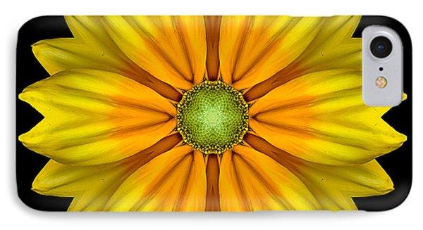 Rudbeckia Prairie Sun I Flower Mandala Phone Case by David J Bookbinder