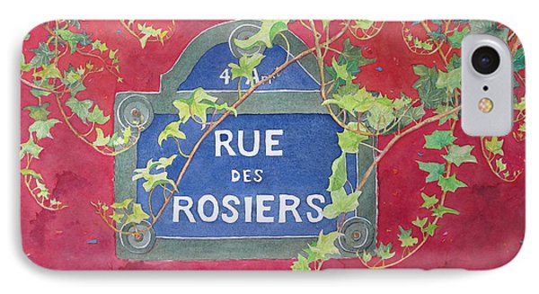 Rue Des Rosiers In Paris IPhone Case by Mary Ellen Mueller Legault