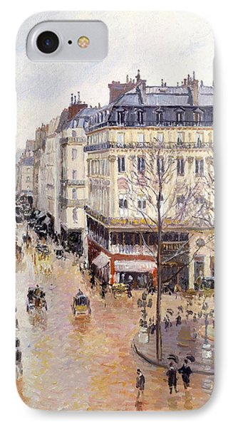 Rue Saint Honore Afternoon Rain Effect Phone Case by Camille Pissarro
