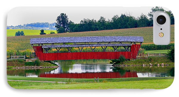 Ruffner Covered Bridge Phone Case by Jack R Perry