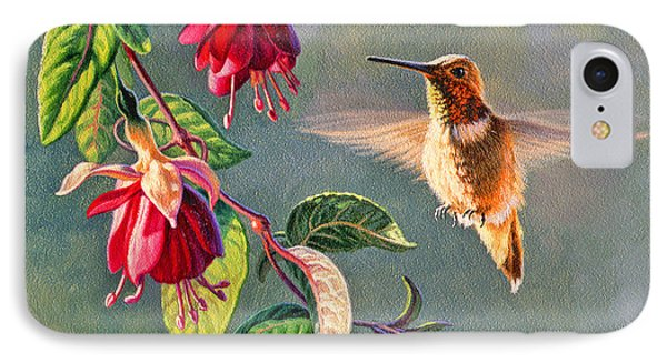 Rufous And Fuschia Phone Case by Paul Krapf