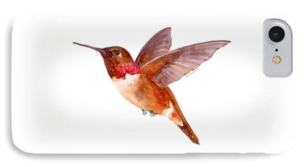 Rufous Hummingbird IPhone Case by Amy Kirkpatrick