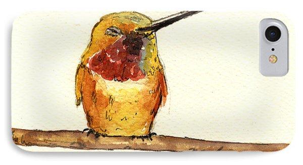 Rufous Hummingbird  IPhone Case by Juan  Bosco