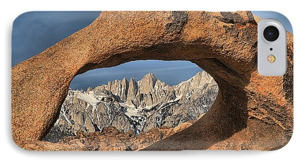 Rugged Peaks Through Mobius IPhone Case by Adam Jewell