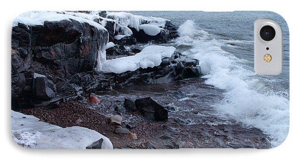 Rugged Shore Winter Phone Case by James Peterson