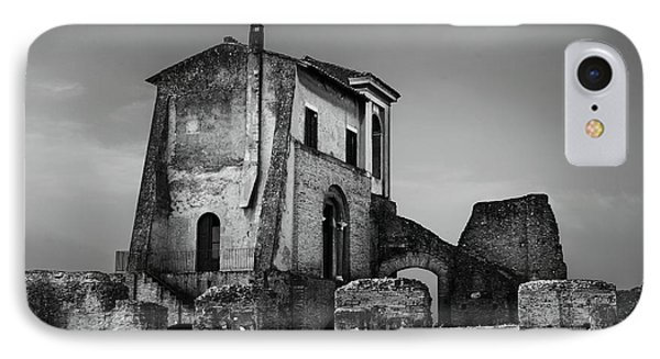 Ruin At Palatine Hill IPhone Case by Julian Cook