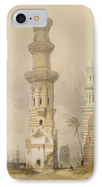 Ruined Mosques In The Desert IPhone Case by David Roberts