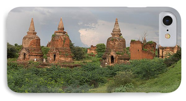 Ruined Stupas Near Village Of Min Nan IPhone Case by Panoramic Images