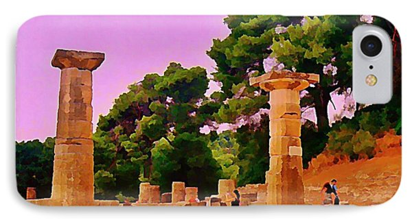 Ruins At Olympus Greece Phone Case by John Malone