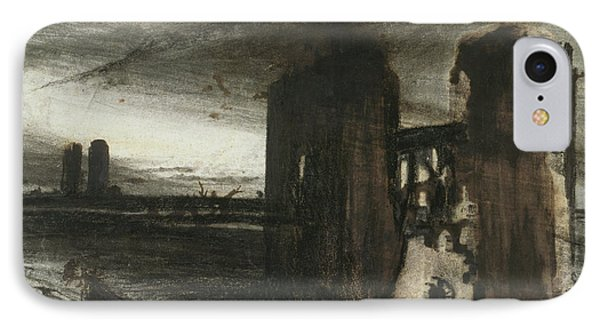 Ruins In A Landscape IPhone Case by Victor Hugo