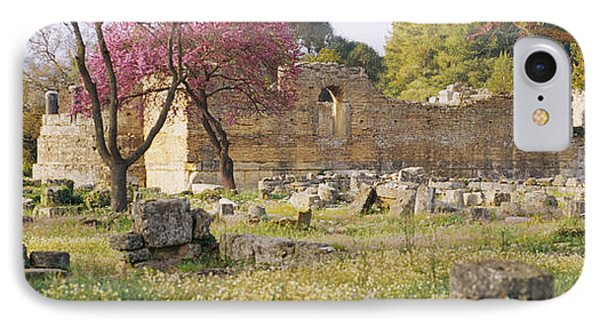 Ruins Of A Building, Ancient Olympia IPhone Case by Panoramic Images