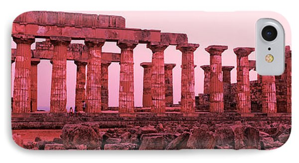 Ruins Of A Temple, Temple E, Selinunte IPhone Case by Panoramic Images