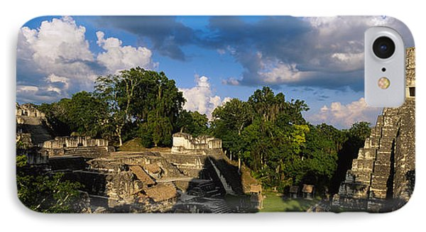 Ruins Of An Old Temple, Tikal, Guatemala IPhone Case by Panoramic Images