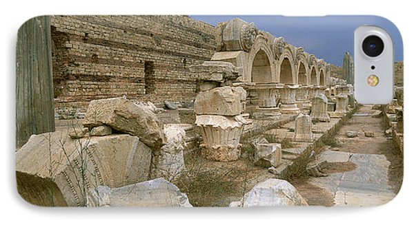 Ruins Of Ancient Roman City, Leptis IPhone Case by Panoramic Images