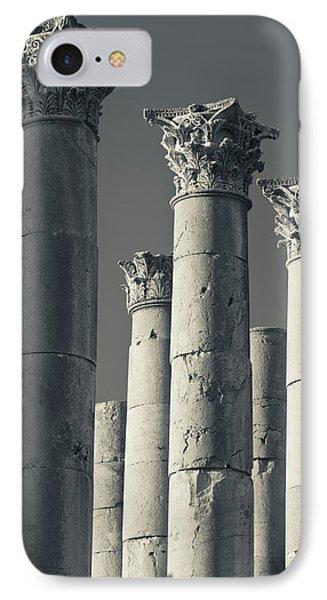 Ruins Of Roman-era Columns, Jerash IPhone Case