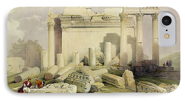 Ruins Of The Eastern Portico IPhone Case by David Roberts