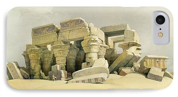 Ruins Of The Temple Of Kom Ombo Phone Case by David Roberts