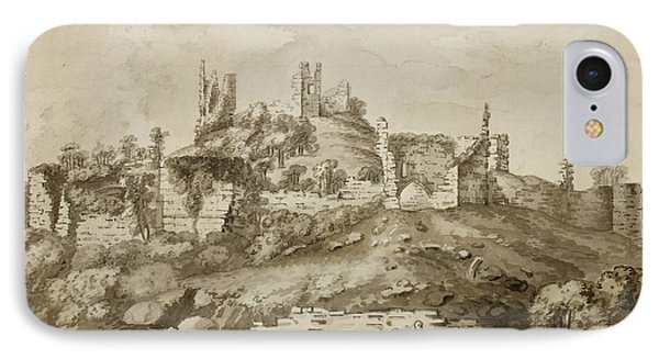 Ruins Of Wigmore Castle IPhone Case by British Library
