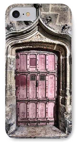 Ruins With Red Door IPhone Case by Evie Carrier
