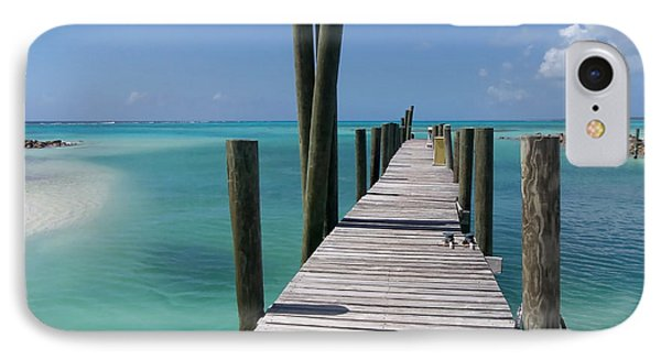 IPhone Case featuring the photograph Rum Cay Marina Jetty In Bahamas by Jola Martysz