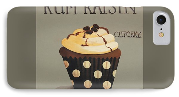 Rum Raisin Cupcake Phone Case by Catherine Holman
