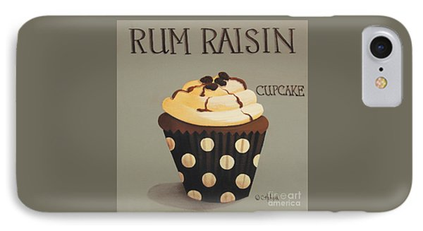Rum Raisin Cupcake IPhone Case by Catherine Holman