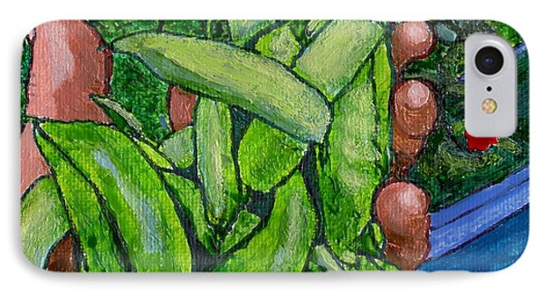 Rummenie's Snap Peas IPhone Case by Phil Strang