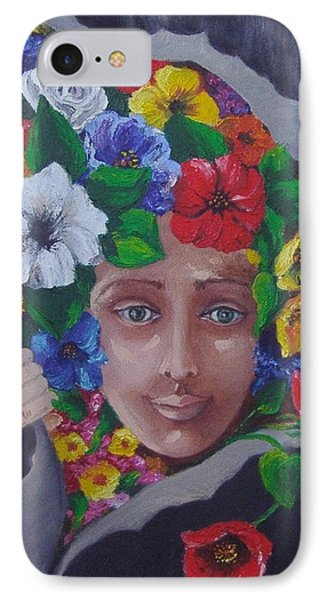 IPhone Case featuring the painting Run Out The Good In You by Nina Mitkova