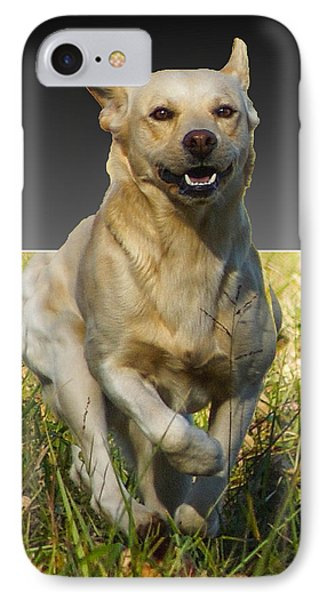 IPhone Case featuring the digital art Run Puppy Run by B Wayne Mullins