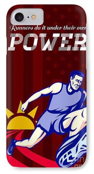 Runner Running Power Poster Phone Case by Aloysius Patrimonio