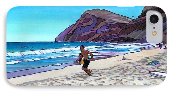 Running At Makapuu Phone Case by Douglas Simonson