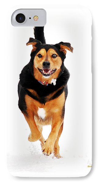Running Dog Art Phone Case by Christina Rollo
