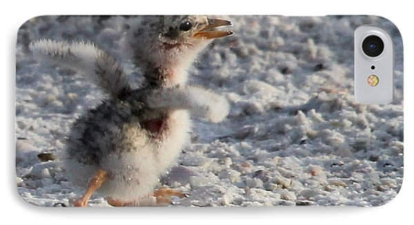 Running Free - Least Tern IPhone Case by Meg Rousher
