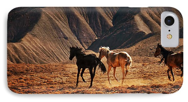 IPhone Case featuring the photograph Running Free by Priscilla Burgers