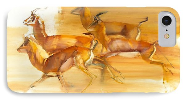 Running Gazelles IPhone Case by Mark Adlington