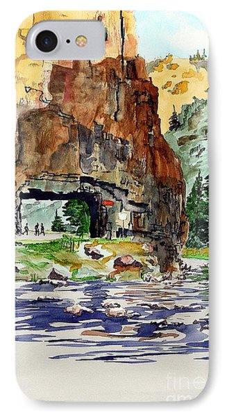 Running In The Poudre Canyon IPhone Case by Tom Riggs
