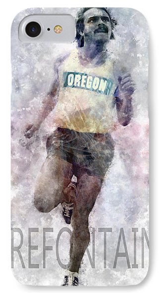 Running Legend Steve Prefontaine IPhone Case by Daniel Hagerman