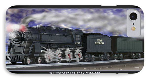 Running On Time Phone Case by Mike McGlothlen