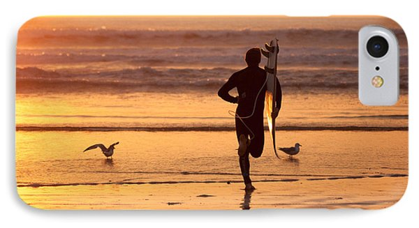 IPhone 7 Case featuring the photograph Running To Surf by Nathan Rupert