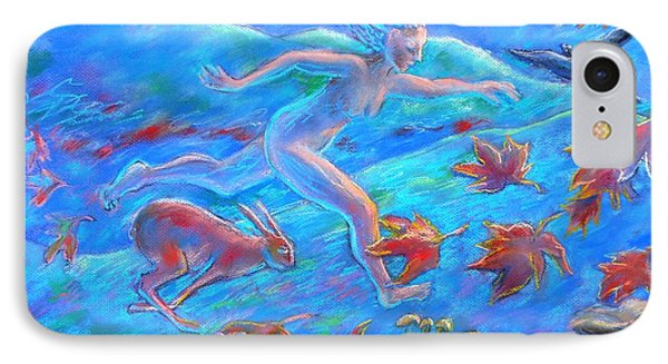 Running With The Hare Phone Case by Trudi Doyle