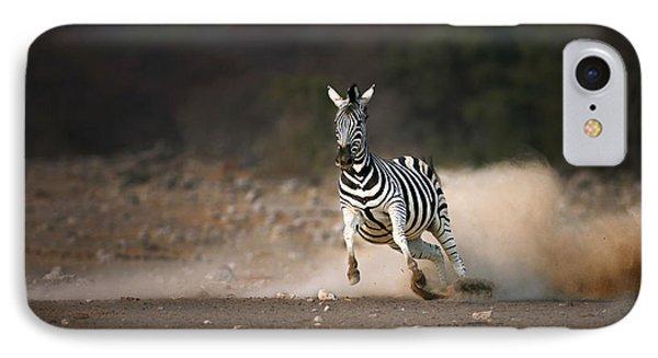 Running Zebra IPhone Case by Johan Swanepoel