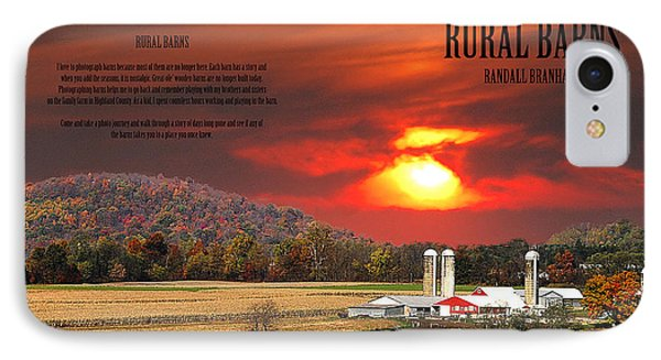 IPhone Case featuring the photograph Rural Barns  My Book Cover by Randall Branham