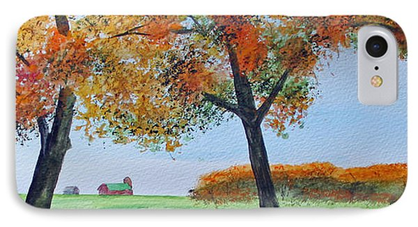 IPhone Case featuring the painting Rural Color by Jack G  Brauer