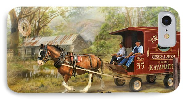 Rural Deliveries IPhone Case by Trudi Simmonds