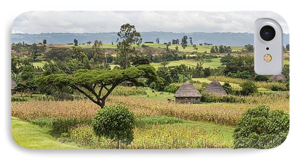 Rural Ethiopian Landscape IPhone Case by Peter J. Raymond