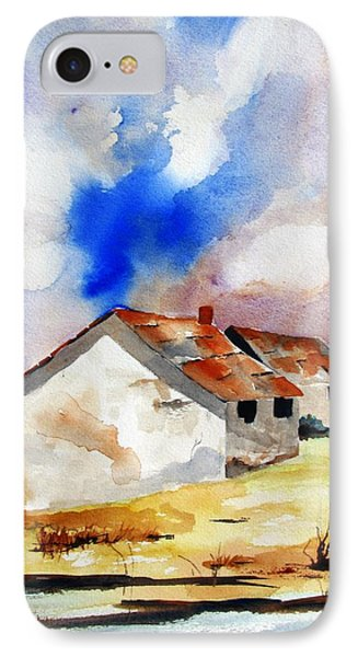 Rural Houses And Dramatic Sky IPhone Case by Carlin Blahnik