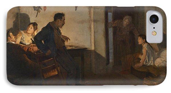 Rural Interior Scene IPhone Case by Adolf Karpellus