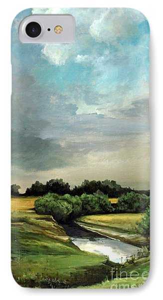 Rural Landscape IPhone Case by Mikhail Savchenko